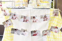 yellow sunshine Korean dol first birthday party dessert table
