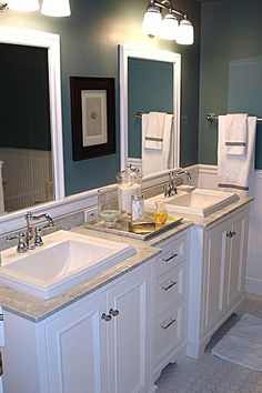 Really love the vanity with the sinks