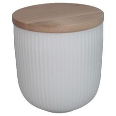 Threshold™ Large Porcelain Canister with Wood Li... : Target