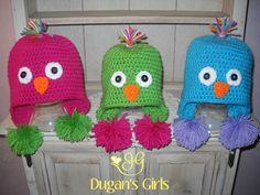 Crochet by Dugan's Girls  {Little Chick Pom Pom Hat}