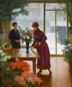 Buying Flowers ~ Victor Gabriel Gilbert ~ (French 1847-1933)