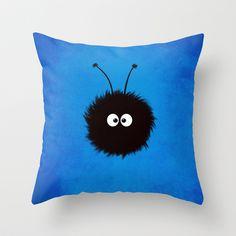 Blue Cute Dazzled Bug Throw #Pillow by Boriana Giormova - $20.00 #homedecor #pillows