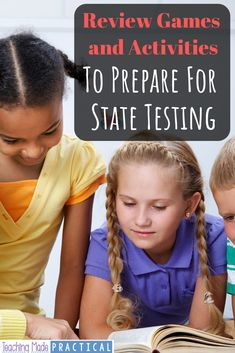 7  different review games or activity ideas for state testing prep.  Help your 3rd grade, 4th grade, and 5th grade students stay motivated as they prepare to take their state test.  These ideas come from real teachers who are looking for fun and engaging ways to review. 4th Grade Reading, 5th Grade Math, Fourth Grade, Third Grade, Math Class, Real Teacher, Reading Centers, Review Games, Test Prep