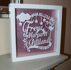 Personalised+Papercut++with+baby+name+and+birth+by+CraigCreative,+£30.00