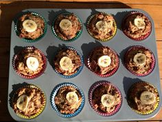 Banana and walnut muffins