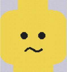 Lego Head 1 Cross Stitch Pattern