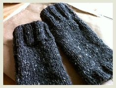 The look of these quick and simple fingerless gloves is inspired in part by Tante Ehm's wonderful Camp Out Fingerless Mitts, with that wide band of garter stitch around the knuckles. But for …