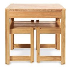 Pine Kitchen Table And Bench Project For Small Spaces