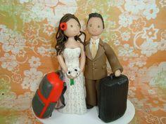 Travel themed cake topper