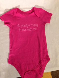 My daddy is crazy in love with me Onesie by TheLittleSparkleShop