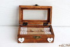Wedding Ring Box, Wedding Boxes, Ring Bearer Box, Decoupage Box, Jewelry Box, Unique Jewelry, Personalised Box, Big Sur, Handmade Gifts