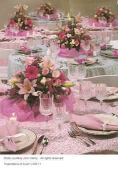 bridal shower centerpieces | Wedding Centerpieces in Pink