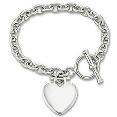 Sterling Silver Tiffany Style Engravable Bracelet W Toggle Lock Jewel