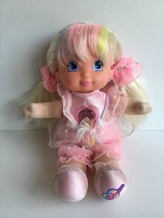 68aff53875f 1992 Mattel Soft PJ SPARKLES Doll Still Works!