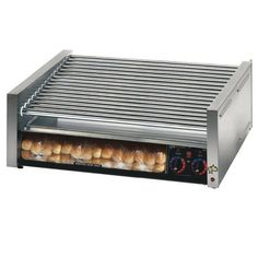Table Top King star Grill Max 75CBBC 75 Hot Dog Roller Grill with Chrome Plated Rollers and Bun Drawer with Clear Door 208240 Volts -- Read more  at the image link.
