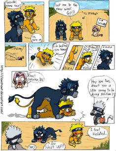 SasuNaru meets The Lion King. Lol I love it. Whoever came up with this comic is a genius!