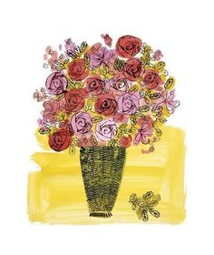 Andy Warhol Basket of Flowers painting, oil on canvas & frame; Andy Warhol Basket of Flowers is shipped worldwide, 60 days money back guarantee. Warhol Paintings, Art Paintings, Andy Warhol Art, Painting Prints, Art Prints, Art Moderne, Illustrations, Flower Basket, Botanical Art