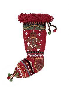 Newari Christmas Tree Stocking Knitted By Hand In Nepal
