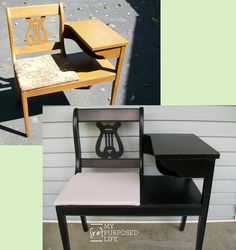 Easily give an update to a vintage gossip bench with a Homeright Finish Max.