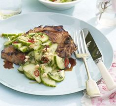Give chops an oriental kick with this easy, sticky marinade