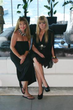 Cher & Sam in a Rock House designed lakefront living room  Owner/Principal Designer at Rock House Style (Sam Shakura & Cheryll Gillespie)  #Kelowna #rockhouse #luxuryliving #fabulousliving #experts