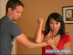 Self Defense for Women : How to Get Out of a Front Choke. Teaching my daughter all of these.