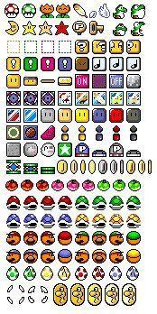 Mario sprites for perler beads