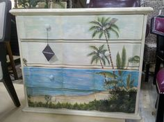 Why not? Well I can't paint the scenes, but this sure is a Whimsy beach scene painted furniture