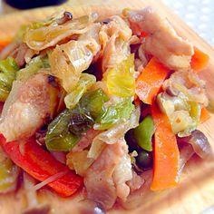 野菜がたっぷり食べられる生姜焼き  丼にしてもまいうーです(≧∇≦) - 106件のもぐもぐ - 野菜たっぷり生姜焼き by maipu