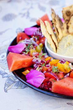 The most beautiful salad; Ottolenghi's pomegranate tomato salad