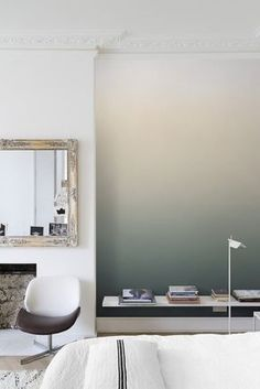 How to Paint an Eye-Catching Ombre Wall. Have you ever wondered how to paint an ombre wall of graduating color? Take a look at these painting tips or try an ombre wallpaper! All the tips here. http://stagetecture.com/how-to-paint-an-eye-catching-ombre-wall/?utm_campaign=coschedule&utm_source=pinterest&utm_medium=Ronique%20Gibson%20%7BStagetecture%7D&utm_content=How%20to%20Paint%20an%20Eye-Catching%20Ombre%20Wall #painting #DIY #home #decor