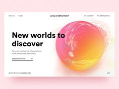 UI Card: New worlds to discover by Lucas Berghoef