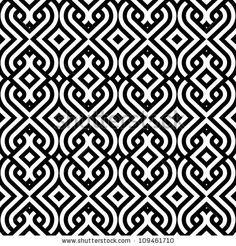 abstract vintage geometric wallpaper pattern seamless background. Vector illustration by De-V, via ShutterStock