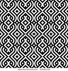 abstract vintage geometric wallpaper pattern seamless background. Vector illustration by De-V, via ShutterStock