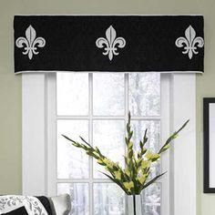 Donna Sharp Fleur De Lis Scrolls Valance French Cottage Just Love New Living Room