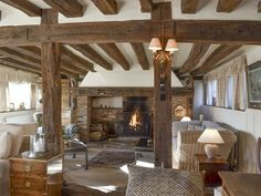 This really is a cottage for all seasons, with a roaring open fire in the beamed living room. Cosy Lounge, Open Fires, Lounge Areas, Interior Decorating, Decorating Ideas, Cool Furniture, Pergola, Relax, Outdoor Structures