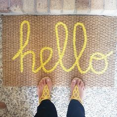 mrandmrs2015:  June 9 {we live here} in the house with the coolest diy doormat on the street! So happy with how this turned out. #fmsphotoad...