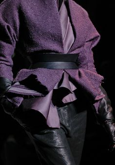Haider Ackermann Fall 2012 Ready-to-Wear Fashion Show Purple Lilac, Shades Of Purple, Deep Purple, Purple And Black, Magenta, Periwinkle, Black White, Haider Ackermann, Fashion Mode