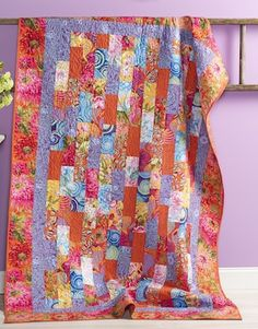 Free pdf Pattern - Red Bricks Quilt featuring the Kaffe Collective Spring 2015 Collection