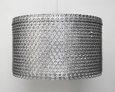 Love this soda can tab drum shade made from hundreds of recycled soda pop can tabs!