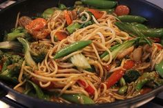 I'll probably add chicken to it for more protein, but lo mein with zucchini as noodles looks delicious!