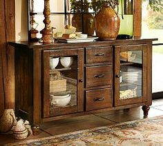 buffet table - large multipanel mirror