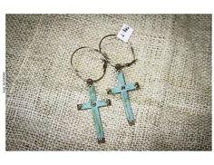 Hoop Earrings With Cross