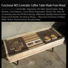 A functional NES controller coffee table.