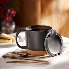 Starbucks® Cork Bottom Mug - Black, 12 fl oz