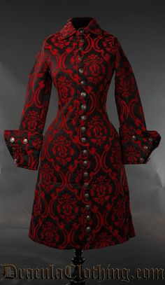 Red Brocade Female Admiral Coat