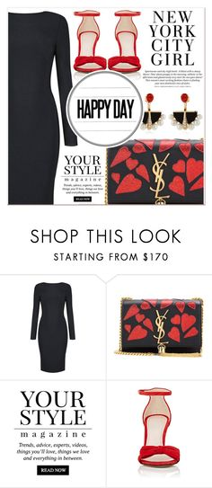 """Happy Day"" by lucky-1990 ❤ liked on Polyvore featuring Yves Saint Laurent, Pussycat, Barneys New York and Lalique"