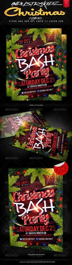 Christmas Party Flyer Templates — Photoshop PSD #xmas #cookie • Available here →…