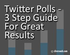 3 Step Guide For Great Results With Twitter Polls. Polls should be on aligned with your brand messaging or theme and use a topical and engaging poll question, with a strong call to action. Add some paid promotion to your polls to boost visibility to your target audience