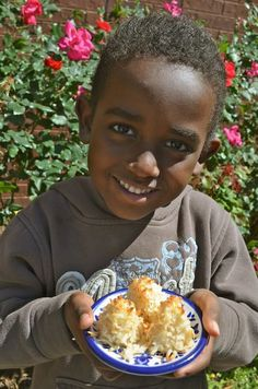 """Kids Cook French Food: easy dishes and so tasty. Recipes for salade nicoise and rochers coco (literally """"coconut rocks""""). The dessert is so easy: just egg whites and coconut!"""